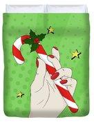 Pop Art Candy Cane Duvet Cover