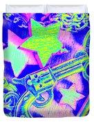 Pop Art Police Duvet Cover