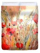 Poppy Fields Forever Duvet Cover