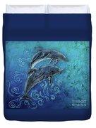 Porpoise Pair Duvet Cover
