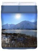 Portage Lake Alaska Duvet Cover