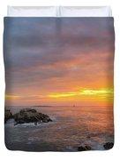 Portland Head Lighthouse Sunshine  Duvet Cover