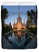 Portland Temple Night Duvet Cover