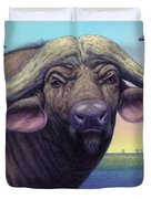 Portrait Of A Cape Buffalo Duvet Cover by James W Johnson