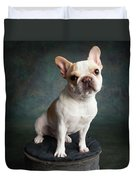 Portrait Of A French Bulldog Duvet Cover
