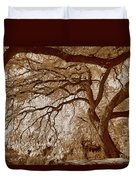 Portrait Of A Tree In Infrared Duvet Cover