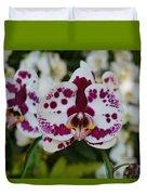 Portrait Of An Orchid Duvet Cover