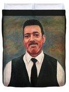 Portrait Of Artist Carl Butler Duvet Cover