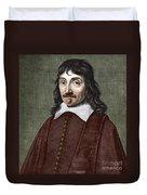 Portrait Of Descartes Duvet Cover