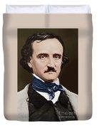 Portrait Of Edgar Allan Poe, Circa 1849 Duvet Cover