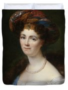 Portrait Of Josephine Victoire Meslier Duvey D  Duvet Cover