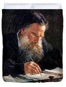 Portrait Of Leo Tolstoy Duvet Cover