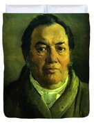 Portrait Of Nikolay O Ge Artist Father Duvet Cover
