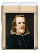 Portrait Of Philip Iv  King Of Spain  Duvet Cover
