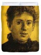 Portrait Of Tatyana Tolstaya Leo Tolstoy Daughter Duvet Cover