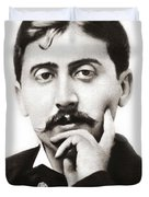 Portrait Of The French Author Marcel Proust Duvet Cover
