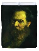Portrait Of The Physiologist Moriz Schiff Duvet Cover