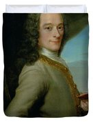 Portrait Of The Young Voltaire  Duvet Cover