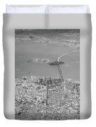 Portrait View Of Downtown San Francisco From Commertial Airplane Duvet Cover