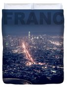 Poster Of Downtown San Francisco With Harbor On The Right Duvet Cover