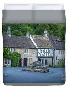 Pre-dawn In Castle Combe Duvet Cover by Brian Jannsen