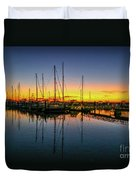 Pre-dawn Marina Colors Duvet Cover by Tom Claud