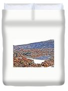 Prescott Arizona Watson Lake Rocks, Hills Water Sky Clouds 3122019 4867 Duvet Cover