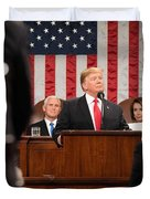 President Donald J. Trump Delivers His State Of The Union Address At The U.s. Capitol 2 Duvet Cover