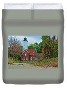Presque Isle Lighthouse Duvet Cover