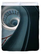 Pretty Blue Spiral Staircase Duvet Cover