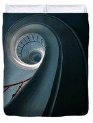 Pretty Blue Spiral Staircase Duvet Cover