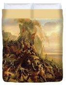 Prise De Rhodes Le 1310 Duvet Cover