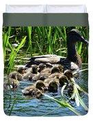 Proud Mother Duck Duvet Cover