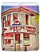 Provincetown Tradition Lobster Pot Duvet Cover