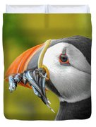 Puffin With A Mouthful Duvet Cover