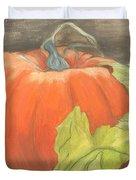 Pumpkin In Patch Duvet Cover