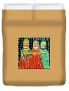 Puppets Of Rajasthan Duvet Cover by Asha Sudhaker Shenoy