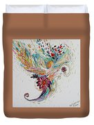 Pure Abstract #4. Trumpeting Angel Duvet Cover