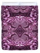 Purple Lilac Gardens And Reflecting Pools Fractal Abstract Duvet Cover by Rose Santuci-Sofranko