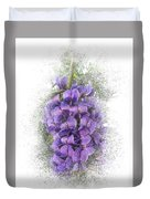 Purple Texas Mountain Laurel Flower Cluster Duvet Cover by Patti Deters