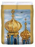 Pushkin Palace Towers Duvet Cover by Maria Langgle
