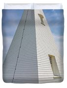 Pyramid Bell Tower Maine Duvet Cover