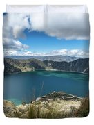 Quilotoa Crater Lake Duvet Cover