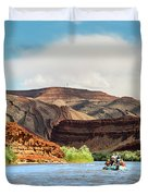Rafting On The San Juan River Duvet Cover
