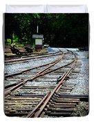 Railroad Siding Tracks Duvet Cover