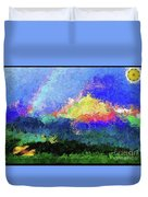 Rainbow Mountain - Breaking The Gridlock Of Hate Number 5 Duvet Cover
