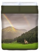 Rainbow Over St  Johann Duvet Cover by James Billings