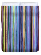 Rainbow Stripes Purple Gold 201912 Duvet Cover