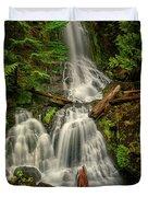 Rainier Falls Creek Falls Duvet Cover