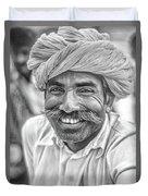 Rajput High School Teacher Bw Duvet Cover